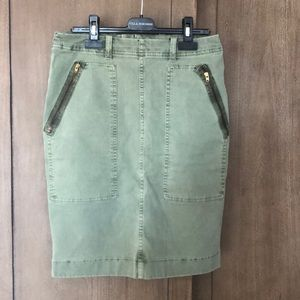 J. Crew Khaki Skirt with Zippers